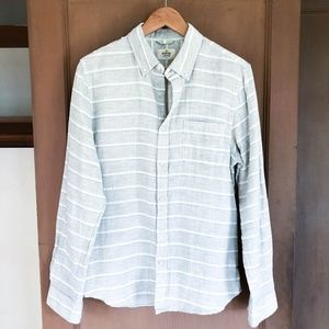 MARINE LAYER Brushed Cotton Button Down Shirt S